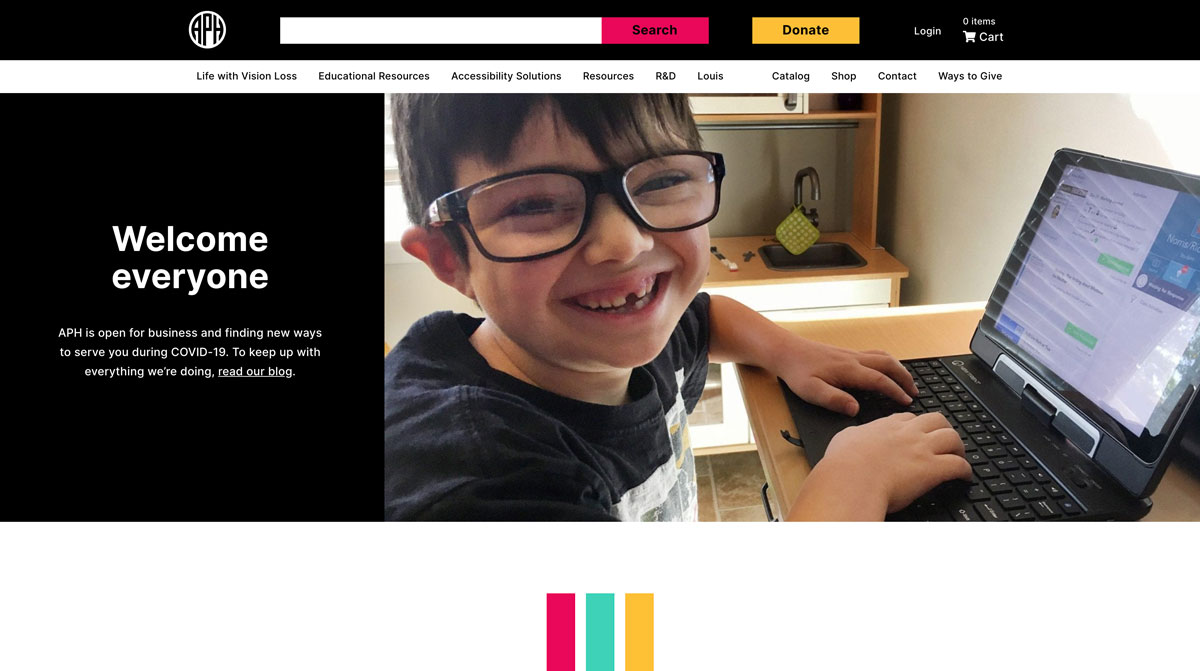 American Printing House Home Page Image